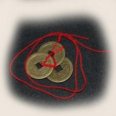 Настоящий китайский амулет на привлечение денег и удачи «Три монеты богатства»